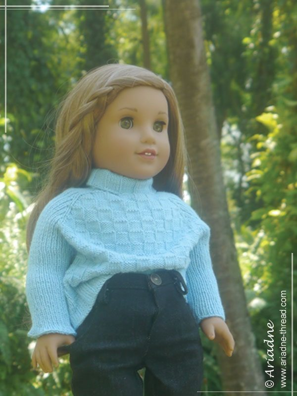 Lea-in-blue-sweater-inspired-by-Richard-Malone-02