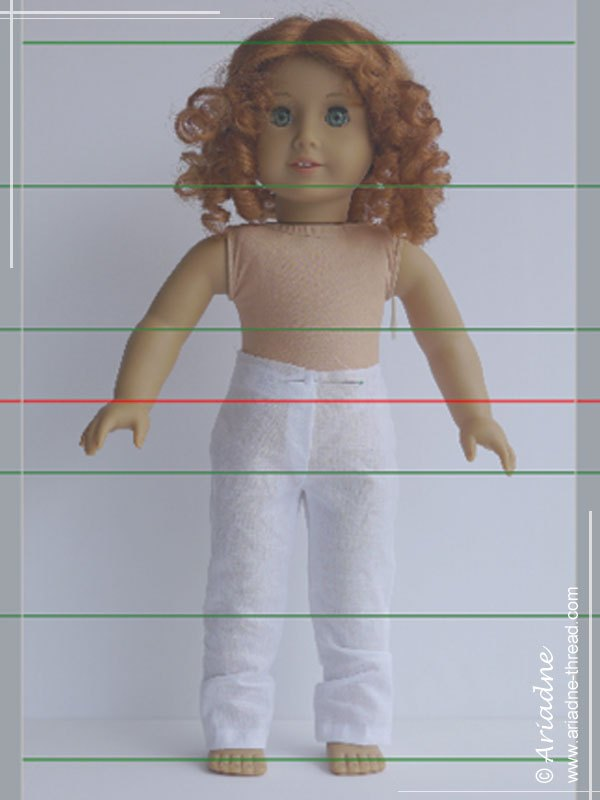 American Girl doll proportions