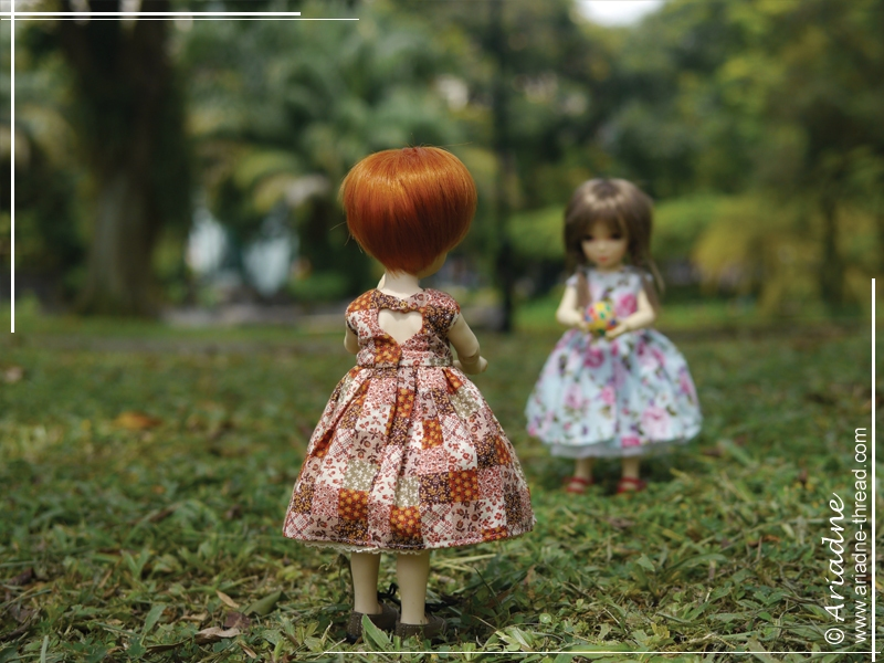 Dollsbe Paprika and Iplehouse Nami play with a ball