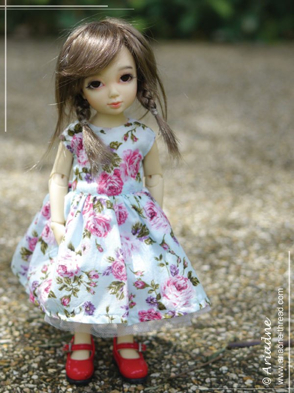 Magyar sleeve dress for BJD