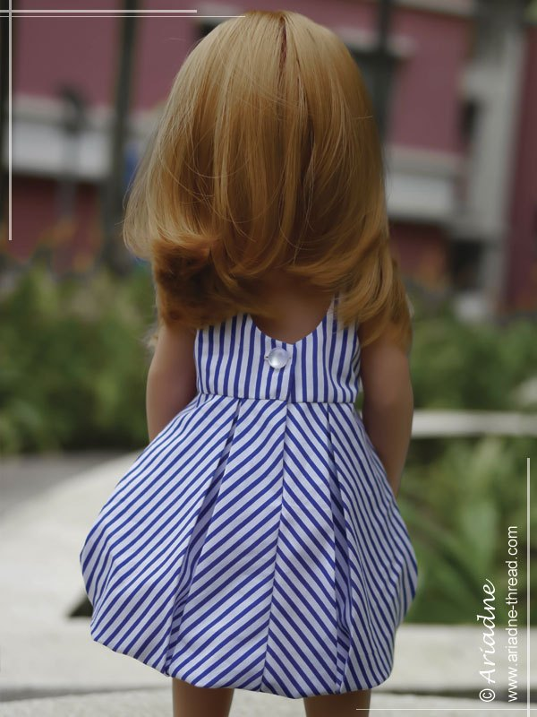 Sophie-in-striped-dress-back-view
