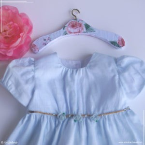 DIY doll clothes hanger