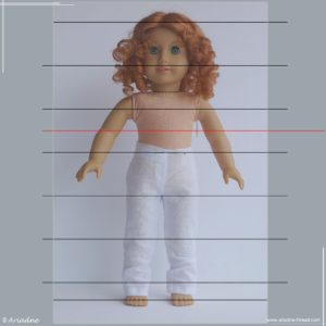 American Girl dolls: where to make a waist?