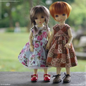 Two similar dresses, two different patterns