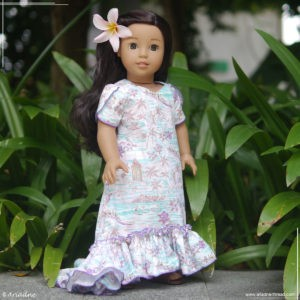 Holoku dress for Nanea Mitchell