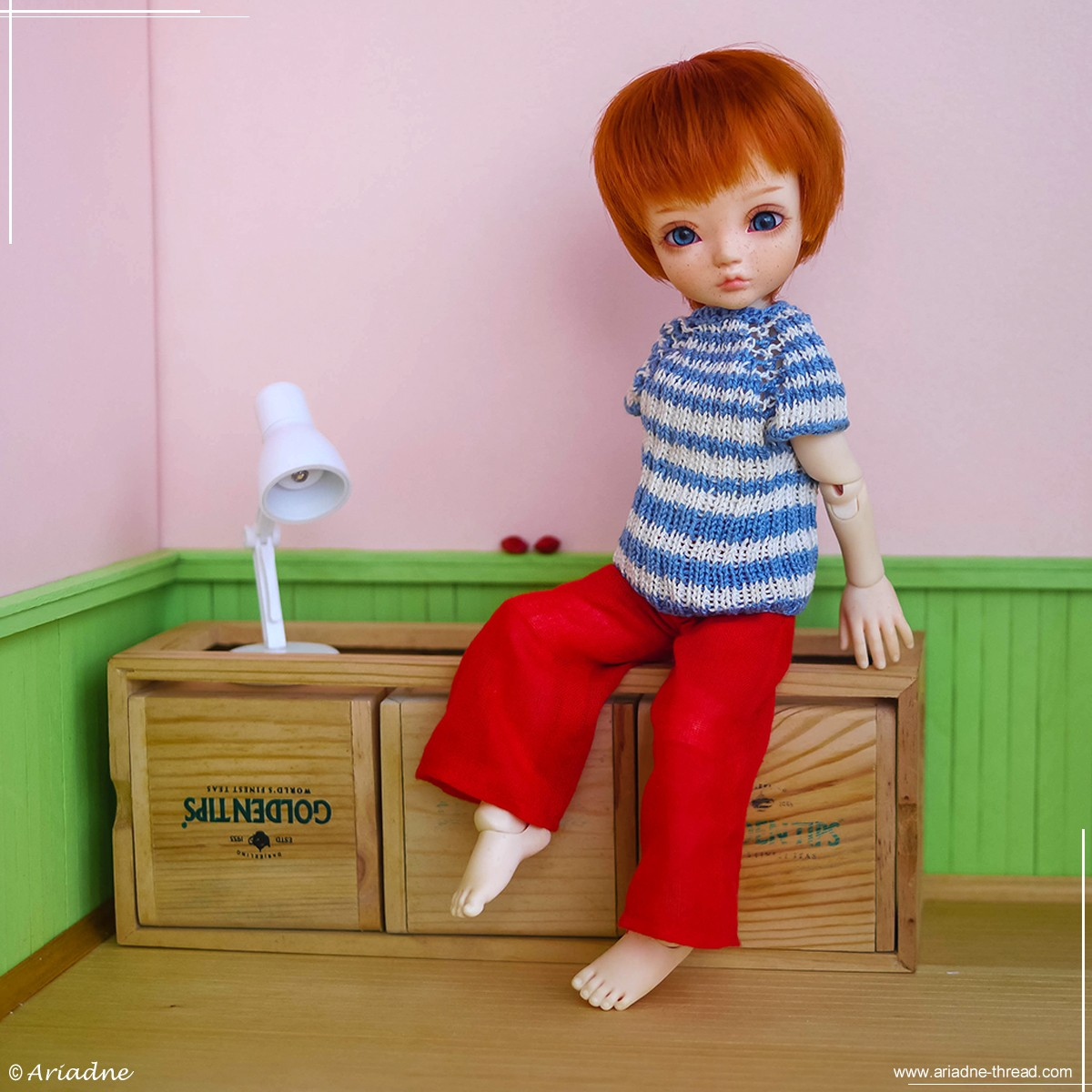 Dollsbe Paprika in her future room