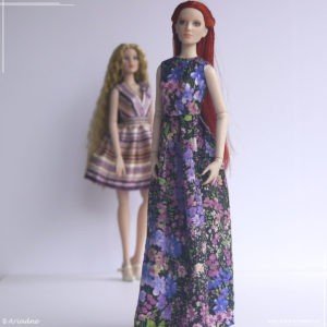 Tonner Antoinette dress inspired by Alberta Ferretti, part 2