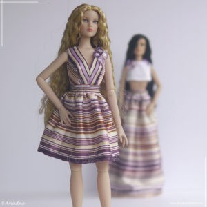 Tonner Antoinette striped dress inspired by Alberta Ferretti, part 3