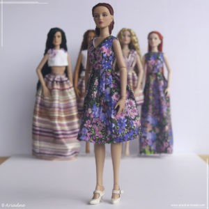 Tonner Antoinette floral dress inspired by Alberta Ferretti, part 5