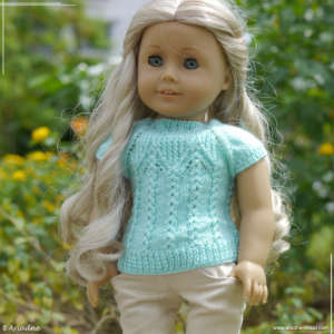 Mint sweaters for American Girl dolls