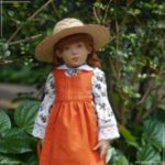 """A new dress with pinafore for Anne of Green Gables (16"""" Helen Kish doll). More photos on website (link in bio)"""